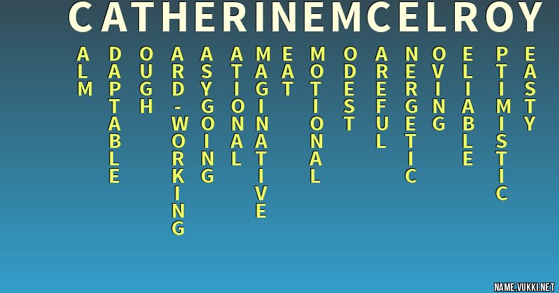 The meaning of catherine mcelroy - Name meanings
