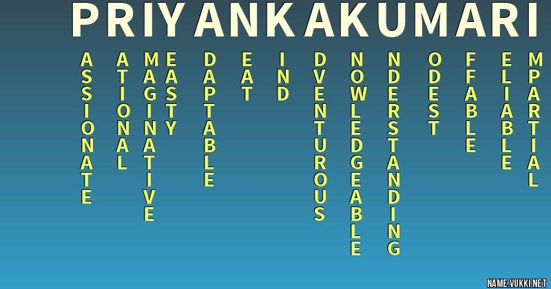 The Meaning Of Priyanka Kumari Name Meanings The meaning of priyanka is beloved. the meaning of priyanka kumari name