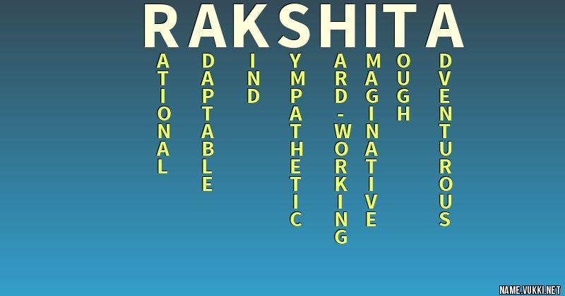 rakshita name