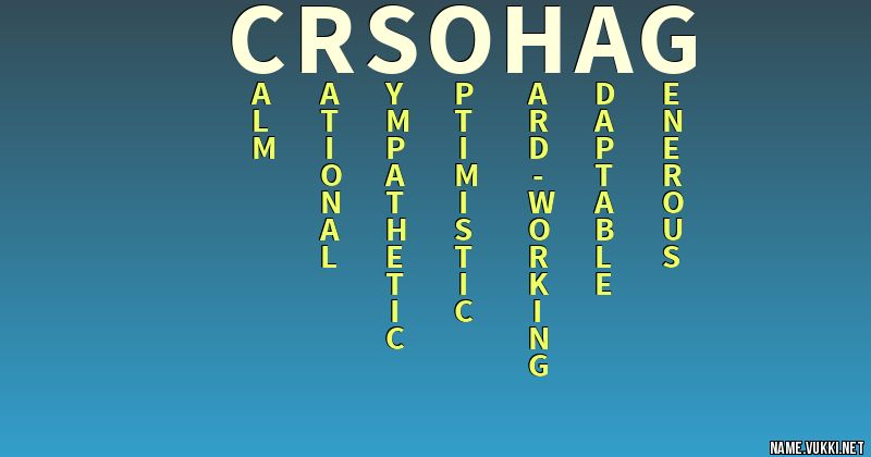 The meaning of cr sohag - Name meanings