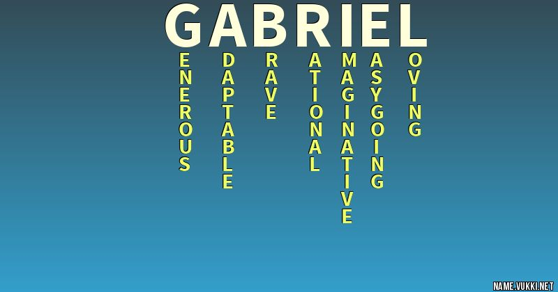 The meaning of gabriel - Name meanings