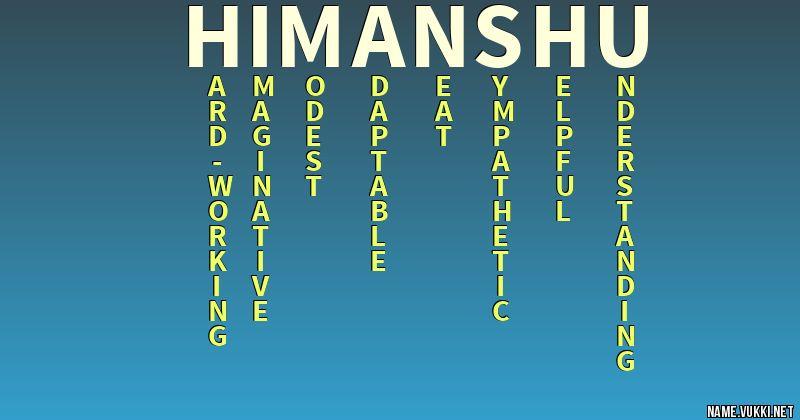 Nicknames for himanshu