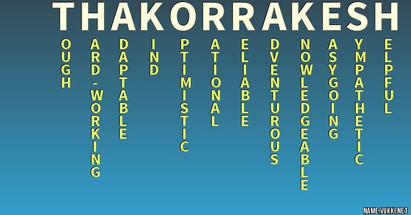 Thakor Name