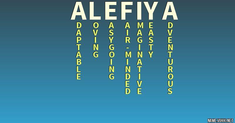 alefiya name