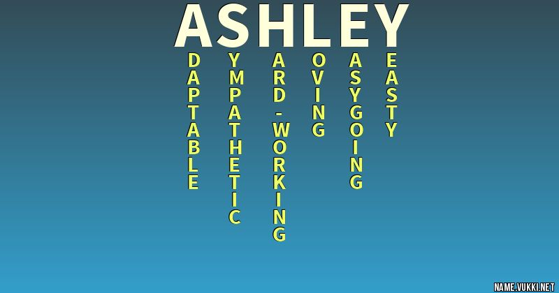 The Meaning Of Ashley
