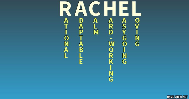 rachel name meaning
