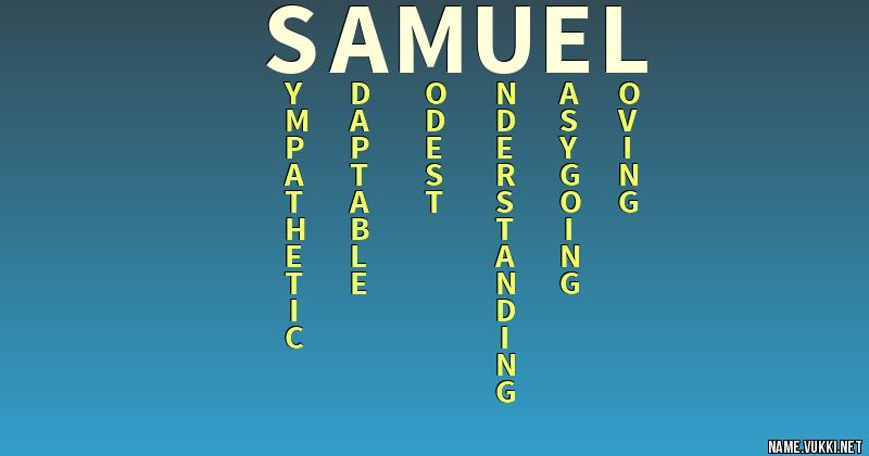 The meaning of samuel - Name meanings