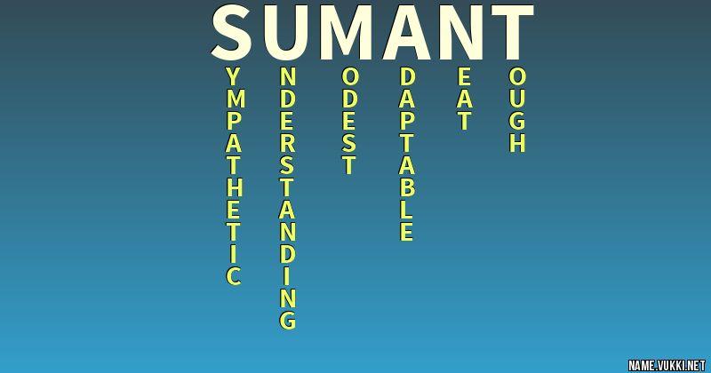sumant name