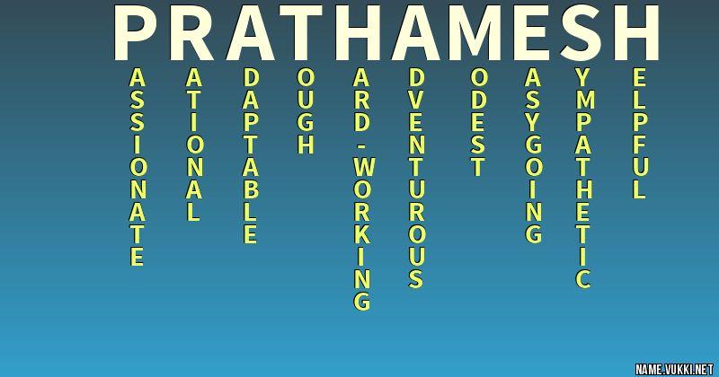 prathamesh name