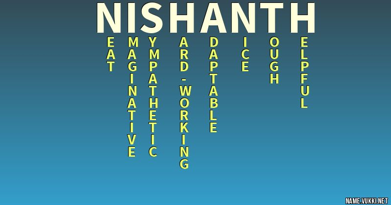 nishanth name