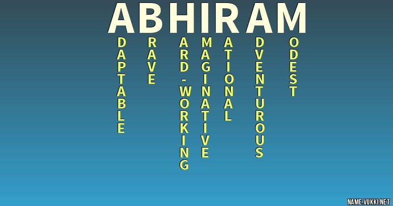 abhiram name