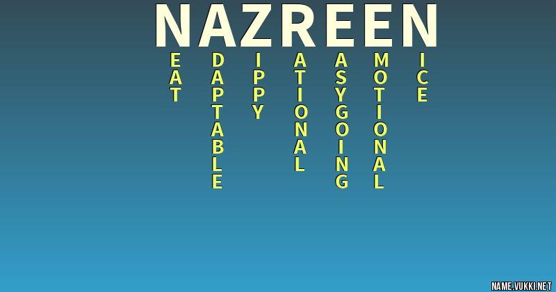 nazreen name