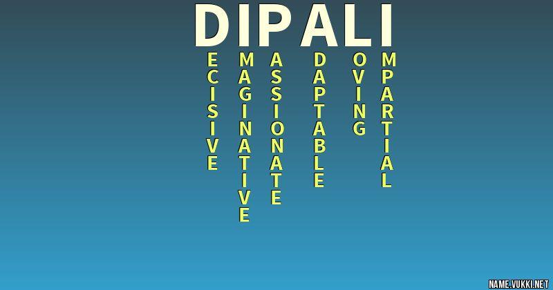 dipali name
