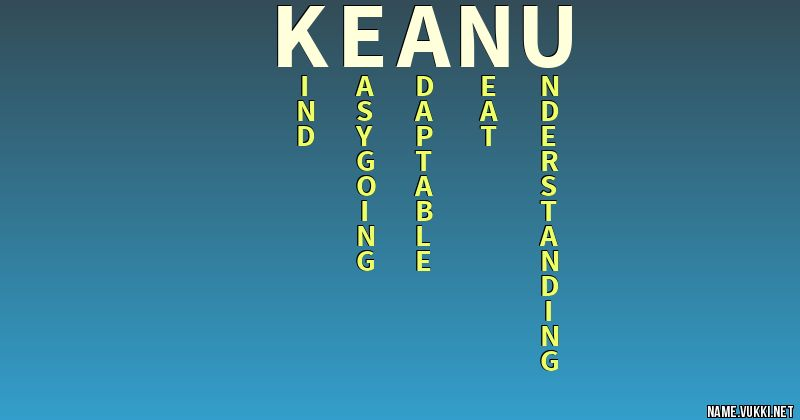 the meaning of keanu name meanings