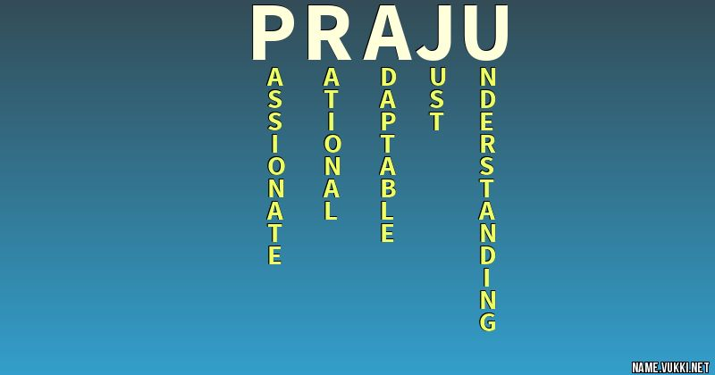 for name praju