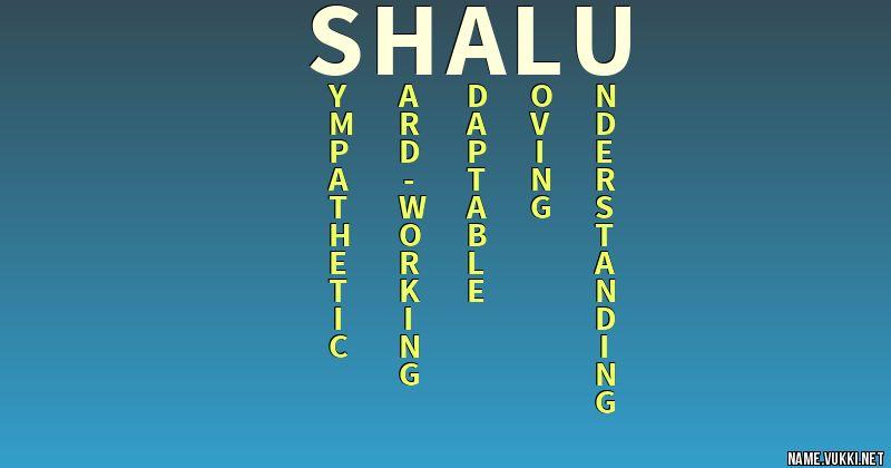 SHALU LETTER WALLPAPER