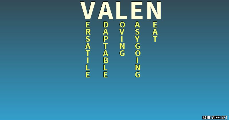 The meaning of valen - Name meanings