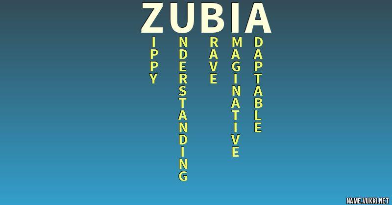 zubia name