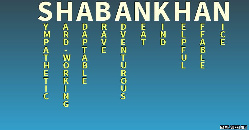 shaban khan name