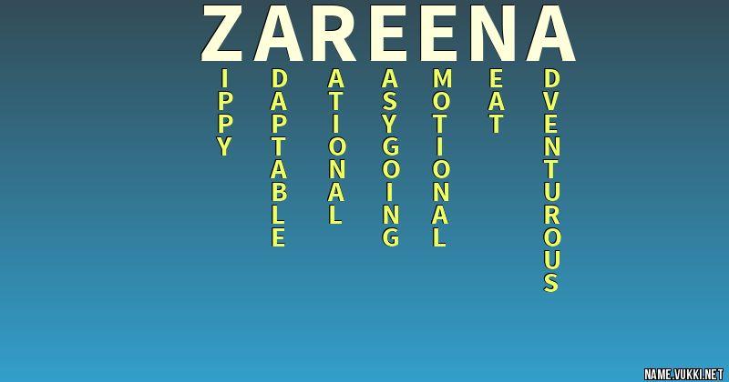 zareena name