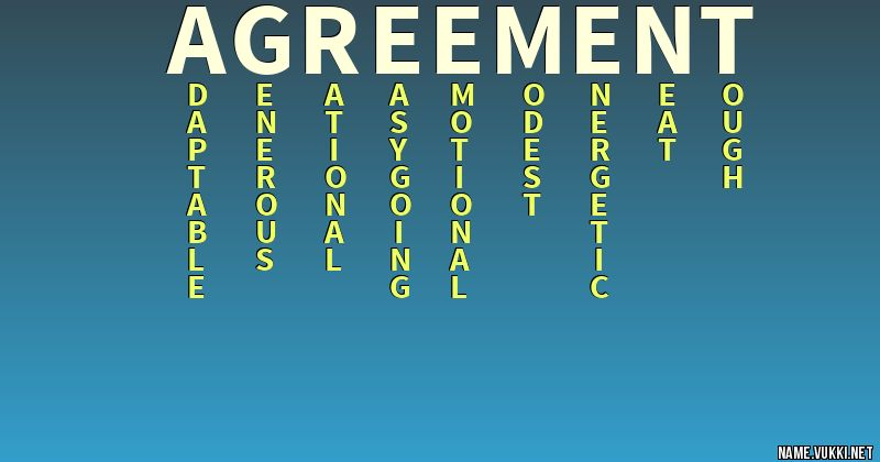 The meaning of agreement name meanings the meaning of agreement platinumwayz