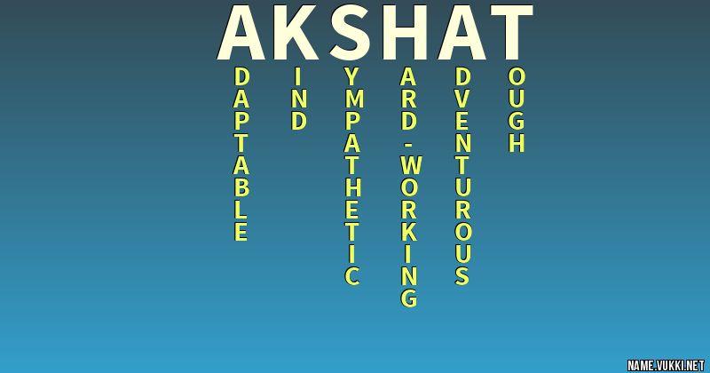akshat name