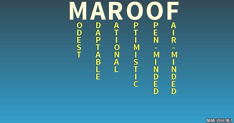maroof name