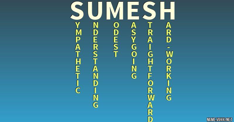 sumesh name hd