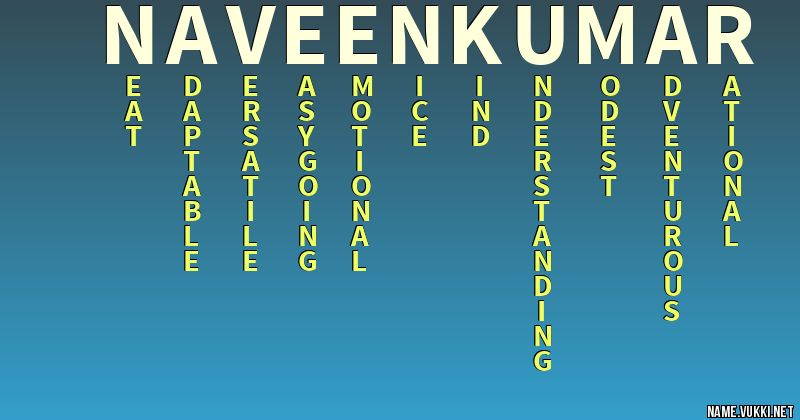 The meaning of naveen kumar - Name meanings