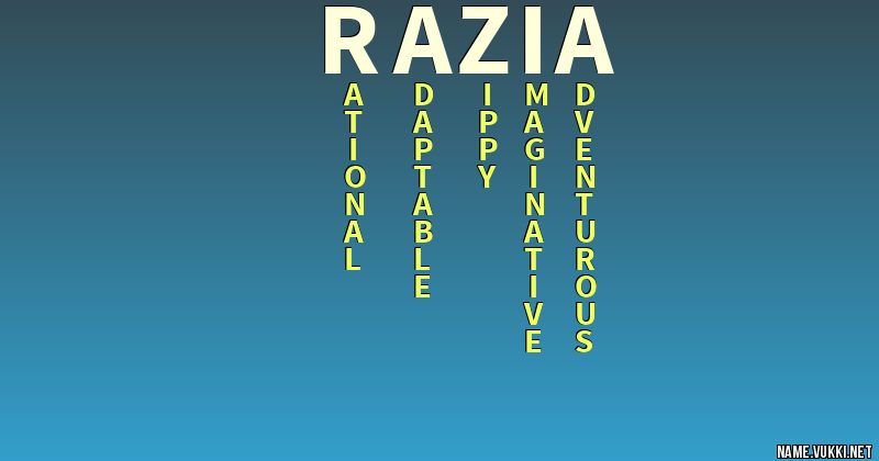 The meaning of razia - Name meanings