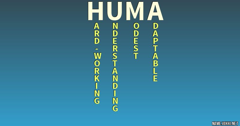 The meaning of huma - Name meanings