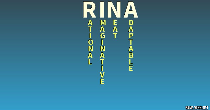 The Meaning Of Rina Name Meanings
