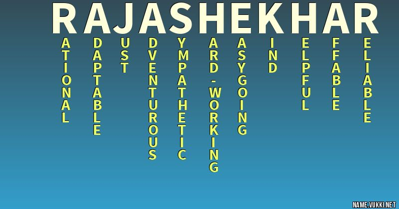 The Meaning Of Raja Shekhar Name Meanings