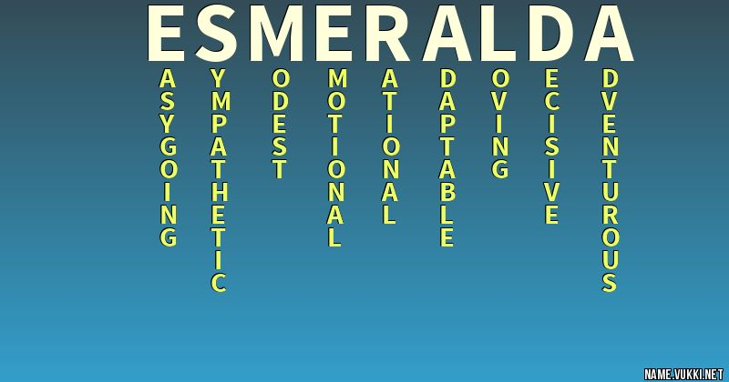 43++ Esmeralda meaning of name info