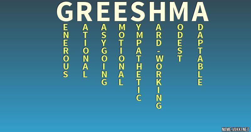 greeshma name