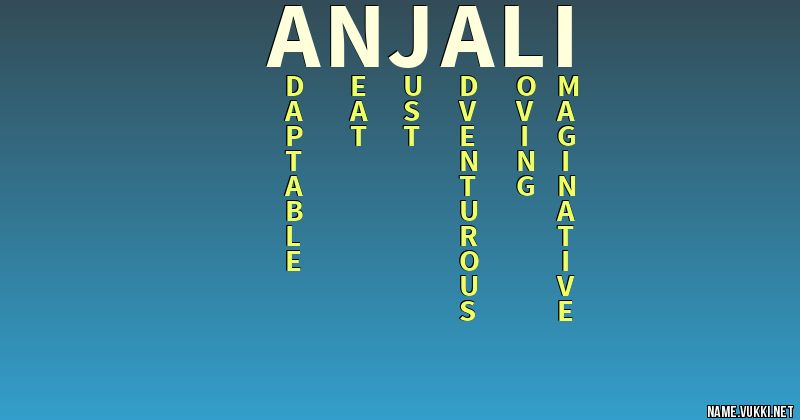 The meaning of anjali - Name meanings