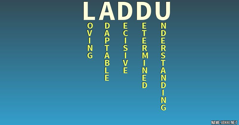 the meaning of laddu name meanings