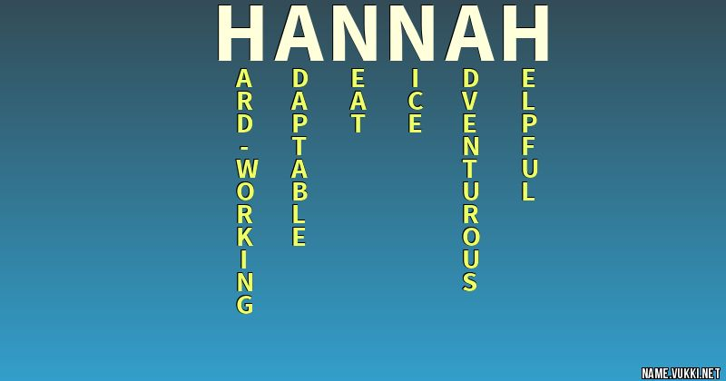 29+ Meaning of the name hannah in english info