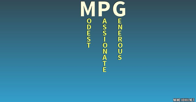 The Meaning Of Mpg
