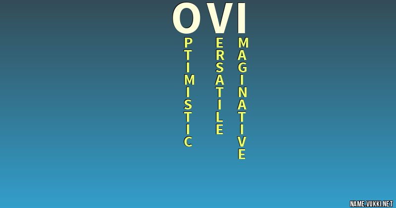 The Ovi Meaning Name - Meanings Of at pvdiario com