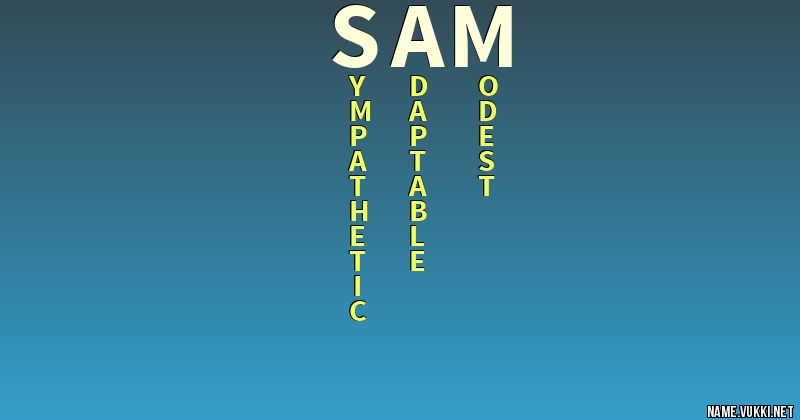 The meaning of sam - Name meanings