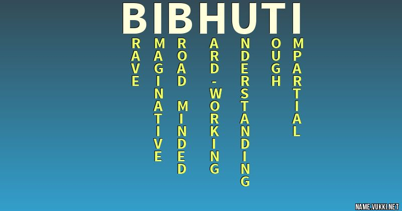 bibhuti name