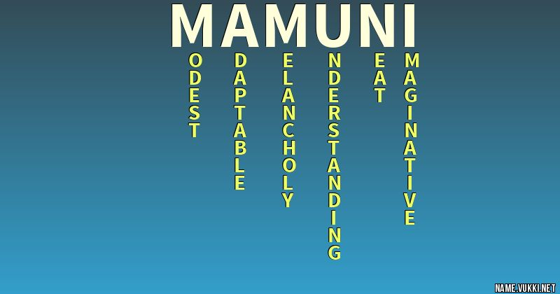 mamuni name hd