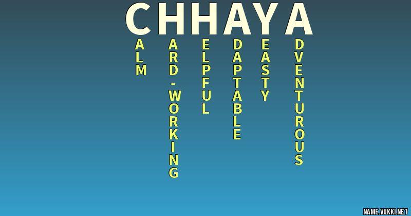 chhaya name