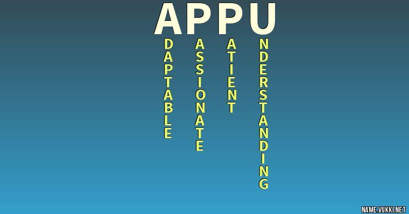 Name Appu Wwwpicswecom